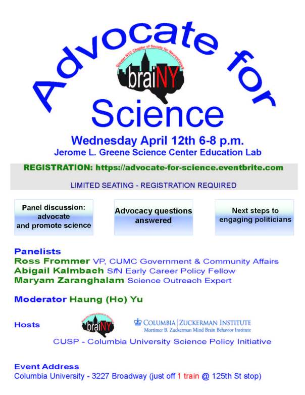 Advocate for Science flyer